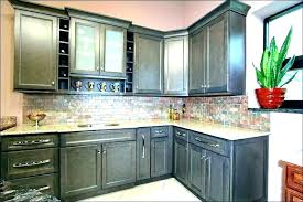 gray stained kitchen cabinets gray stained cabinets with black glaze traditional kitchen gray stained maple kitchen