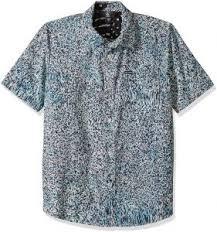 Volcom Big Boy Size Chart Volcom Big Boys Drag Dot Short Sleeve All Over Print Button Up Shirt Misty Blue Xl