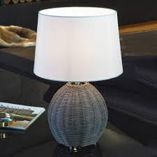 roia textile table lamp with braided base from eglo