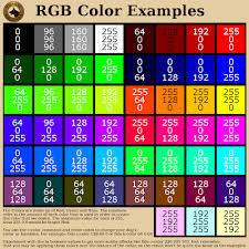 Java Color Chart Color And Tint