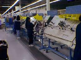 bucket brigades at united technologies Aerospace Wire Harness Tape assembly line to make automotive harnesses Aviation Wire Harness