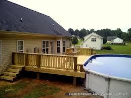 multi level above ground pool deck ideas