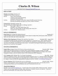 Law School Resume Sample Resume Work Template