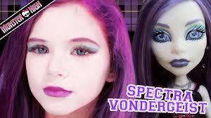 spectra vondergeist monster high doll halloween costume makeup