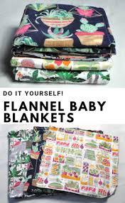 baby blanket diy tutorial three easy ways to sew flannel receiving blankets
