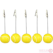 Paper Holder Clips Accessories Lovely Yellow Plastic Tennis Ball Shaped Base In Chrome