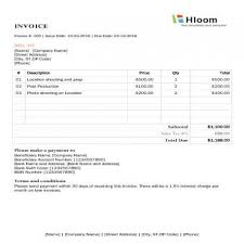 Invoice Template For Photographers Photography Invoice Template Task List Templates