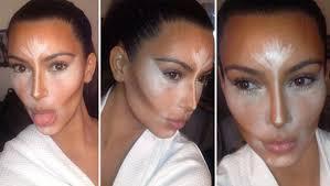 contouring by kim kardashian