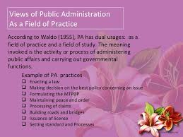 introduction to public administration views of public administration 4