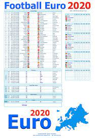Game results and changes in schedules are updated automatically. Smartcoder 247 Euro 2020 Football Wallcharts And Excel Templates Euro 2020 Wall Charts And Excel Spreadsheets