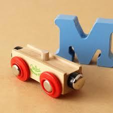 vilac virac wooden toys alphabet train letters m z