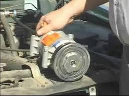 car air conditioner compressor. car air conditioning repair : conditioner repair: faulty compressor - youtube 0