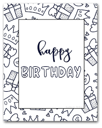 Make his heart melt with one of these free printables. 33 Coloring Pages Birthday Card Free Printable Coloring Pages