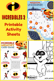 Incredibles 2 coloring pages printable. Incredibles 2 Printable Activity Sheets Coloring Pages Recipes And More Jinxy Kids