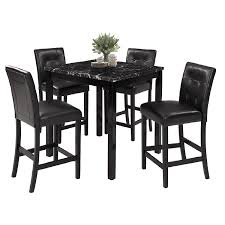 Amazoncom Lz Leisure Zone 5 Piece Kitchen Table Set Marble Top
