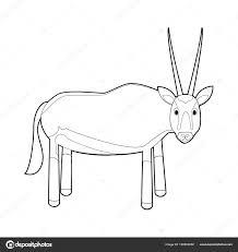 Kleurplaat Eenvoudig Tekeningen Van Dieren Voor Kleine Kinderen Oryx