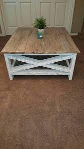 distressed wood coffee table rustic