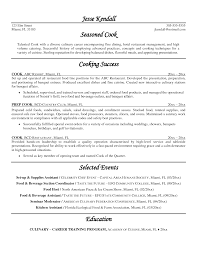 Ideas Of Cook Resume Examples Examples Of Resumes Beautiful Resume