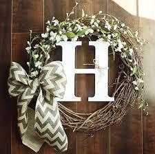 initial wreaths for front doorBest 25 Initial door wreaths ideas on Pinterest  Letter door
