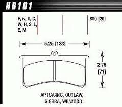 Hawk Pads Chart Ebay Sponsored Hawk Hb101s 800 Ht 10 Pads Wilwood Sl Ap