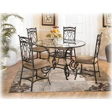 lovely ashley furniture round dining table d312 225 bianca glass room dinette sets