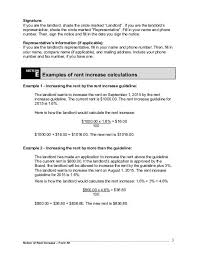 Notice Of Rent Increase Form Signature If You Are The
