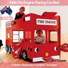 kids bunk beds fire engine racing car bed children bedroom furnituredetails about kids bunk beds fire
