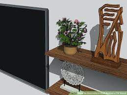 image titled decorate small. Interior Design Ideas How To Decorate Wall Behind Tv Stand Small Home Decoration Image Titled A Step 9 Decor Around