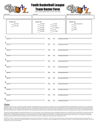 29 Printable Team Roster Forms And Templates Fillable