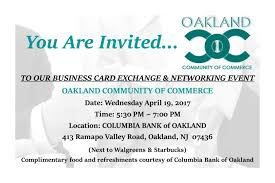 business card exchange networking event columbia bank of business card exchange networking event
