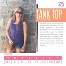 Size Chart For Lularoe Tank Top These Are Very True To Size