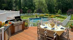 small outdoor kitchens luxury swimming pool with elegant wooden deck using small outdoor kitchen ideas and