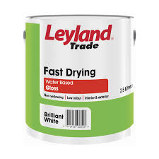 Leyland Emulsion Colour Chart Leyland Trade Fast Drying Water Based Gloss Paint Brilliant White 750ml