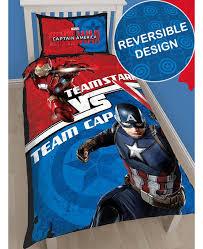 marvel captain america civil war single duvet cover set