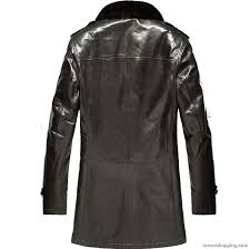 mens black fur lined leather coat dn4 zoom helmet helmet
