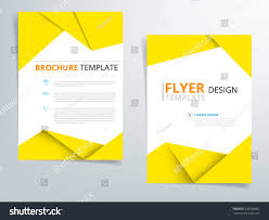 paper flyer yellow brochure template flyer design vector stock vector