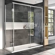 roman decem 10mm glass shower enclosure left hand option shown