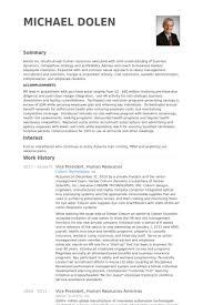 Vice President Resume Samples Resume Of Vp Of Hr Template Kor2m Net