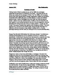 sociology the family a level sociology marked by teachers com the sociology of family