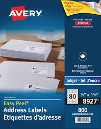 Printed Return Address Label Avery Address Labels Walmart Canada