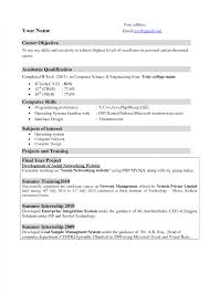 It Resumes Templates Resume Template Microsoft Word For Free