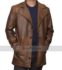 brown waxed leather coat men s brown trench coat
