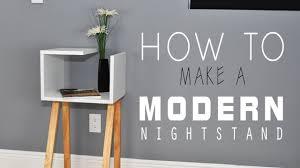 Diy Nightstand How To Make A Modern Nightstand Diy Youtube