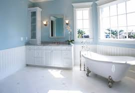 ... New Pale Blue And White Combination Bathroom Color Ideas With Modern  Oval Tubs Styles ...