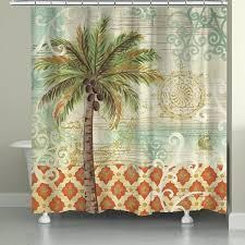 palm tree shower curtain home vintage palm x inch shower curtain palm tree shower curtain rings