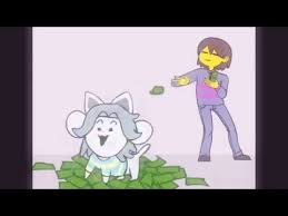 Giving Tem Money For College Undertale Youtube