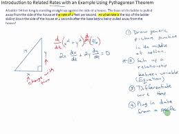 Introduction to Related Rates with an Example Using Pythagorean ...
