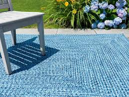 image of outdoor rugs blue