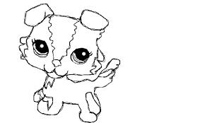 Lps Coloring Pages Littlest Pet Shop Dog Coloring Pages Cute Lps Dog