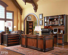 new huntington cherry finish wood executive home office computer desk home office furniture cherry finished